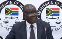 A YouTube screengrab shows Peter Thabethe, the former head of the Free State Agriculture Department, at the state capture inquiry on 20 August 2019.
