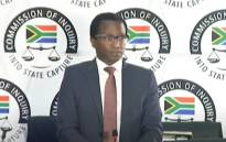 A screengrab of former Cabinet minister Malusi Gigaba's advisor former, Siyabonga Mahlangu, appearing at the state capture inquiry in Johannesburg on 23 October 2020. Picture: SABC/YouTube
