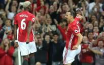Paul Pogba and Zlatan Ibrahimovic. Picture: Twitter @ManUtd.