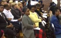 The memorial service for Ayakha Jiyane at the Pinetown Girls High School on 6 September 2019. Picture: EWN