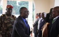 Former Central African Republic President Michel Djotodia (C) is received in Bangui on 10 January 2020 by his political supporters. The former Central African Republic rebel leader and president Michel Djotodia returned to Bangui exactly six years after he quit as head of state. Picture: AFP