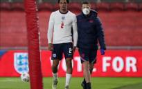 England's defender Trent Alexander-Arnold leaves the pitch injured during the international friendly football match between England and Austria at the Riverside Stadium in Middlesbrough, north-east England on 2 June 2021. Picture: Scott Heppell/AFP