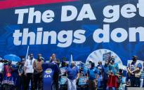 """DA leader John Steenhuisen addresses supporters at the """"we get things done"""" rally in Johannesburg. Picture: Twitter"""