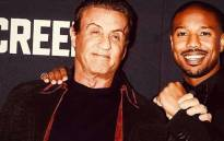 Actor Sylvester Stallone and 'Creed' co-star Michael B Jordan. Picture: @officialslystallone/instagram.com