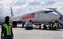 File: This photo taken on 10 October, 2018 shows a Lion Air Boeing 737-800 aircraft at the Mutiara Sis Al Jufri airport in Palu. Picture: AFP.