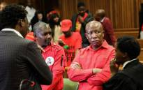 EFF leader Julius Malema and EFF secretary-general Gordich Gardee at the High Court in Pretoria on 4 July 2019. Picture: Kayleen Morgan/EWN