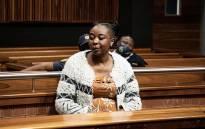 Nomia Rosemary Ndlovu at the Palm Ridge Magistrates Court. Picture: Xanderleigh Dookey Makhaza/ Eyewitness News.