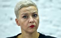 In this file photo taken on 24 August 2020 opposition figure Maria Kolesnikova, a member of the Coordination Council formed by the opposition to oversee efforts for a peaceful transition of power, attends a press conference on the 16th day of protests over disputed presidential elections results in Minsk. Picture: AFP.