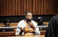 Nomia Rosemary Ndlovu at the Palm Ridge Magistrates Court. Picture: Xanderleigh Dookey Makhaza/Eyewitness News.