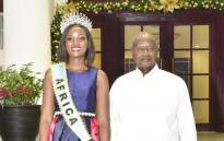 Miss Uganda visits the country's President Yoweri Museveni. Picture: Yoweri Museveni/Twitter.