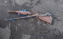 A hunting rifle seized during the arrest of four men by SANParks officials at Kruger National Park on 16 February. Picture: SAPS.