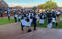 Pupils staged peaceful protests on 31 May, 2021 demanding change at Cornwall College. Picture: Gauteng Department of Education