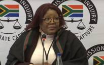 A video screengrab of Vytjie Mentor giving her testimony at the state capture commission on 28 August 2018.