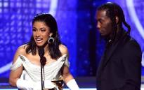 Cardi B and Offset accept the Best Rap Album for 'Invasion of Privacy' onstage during the 61st Annual Grammy Awards at Staples Center on 10 February 2019 in Los Angeles, California. Picture: AFP.