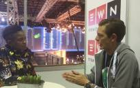 EWN Editor-In-Chief Mahlatse Mahlase speaks to the Freedom Front Plus's Wouter Wessels at the IEC ROC. Picture: Kayleen Morgan.