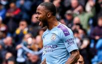 Manchester City's Raheem Sterling celebrates a goal. Picture: @sterling7/Twitter