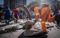 eThekwini municipality workers took to the streets of Durban to protest over claims that only former liberation fighters were being promoted. Picture: Abigail Javier/EWN