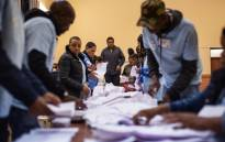 IEC officials count ballots at the Brixton Recreational Centre voting station in Brixton, Johannesburg on 8 May 2019. Picture: AFP