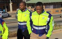 Transport Minister Fikile Mbalula during the #LiveBeyondJuly road safety campaign. Picture: @DoTransport/Twitter