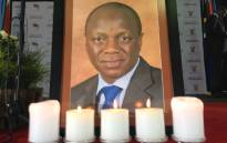FILEl: Photo of the late Public Service and Administration Minister Collins Chabane at his memorial service in Pretoria on 19 March 2015. Picture: EWN.