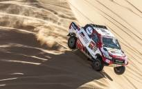 Toyota's Fernando Alonso and Marc Coma during stage 8 of the Dakar Rally on 13 January 2020. Picture: @dakar/Twitter
