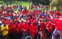 FILE: Members of the National Union of Metal Workers of South Africa (Numsa) participate in a strike. Picture: EWN