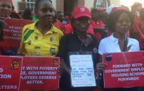 FILE: Workers protest as public sector unions seek to strike a wage deal. Picture: Eyewitness News
