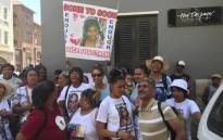 Supporters of Stacha Arendse's family are seen outside the Western Cape High Court after Randy Tango was found guilty of the 11-year-old girl's murder. Picture: Monique Mortlock/EWN