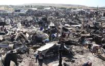 Families of the Overcome Heights informal settlement have had to rebuild their lives after a fire destroyed 500 structures. Picture: Bertram Malgas/EWN