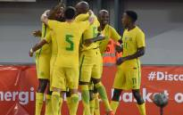 FILE: Bafana Bafana players celebrate a goal. Picture: AFP