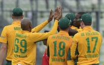 Proteas team celebrates their T20 win against Bangladesh. Picture: Official CSA Facebook page.