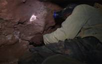 Illegal miners, commonly known as zama zamas, travel deep underground each day. Picture: Screengrab/CNN.