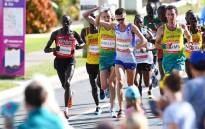 Callum Hawkins during the marathon at the 2018 Commonwealth Games on 15 April 2018. Picture: AFP