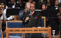Rev. Jasper Williams Jr. gives eulogy at Aretha Franklin's funeral at Greater Grace Temple on 31 August 2018 in Detroit, Michigan.  Picture: AFP