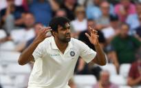 FILE: Indian spinner Ravichandran Ashwin reacts to a missed chance. Picture: AFP