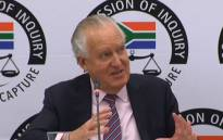 UK's Peter Hain seen at the state capture inquiry on 18 November 2019. Picture: SABC Digital News/youtube.com