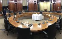 The room at the Union Buildings in Pretoria where the interviews for the next NDPP will take place. Picture: EWN