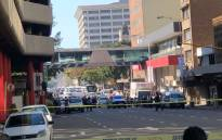 The scene of yet another suspected explosive device that was found at a Woolworths store in the Durban CBD on 19 July 2018. Picture: Supplied