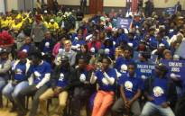 Supporters from the ANC, EFF, DA and FF during election debate. Picture: Masa Kekana/EWN.