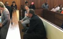 Theo Jackson and Willem Oosthuizen appear in the High Court sitting at Middelburg magistrates court on 23 October 2017. Picture: Pelane Phakgadi/EWN