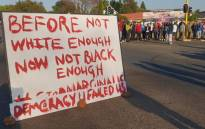 Ennerdale residents protest on 5 October 2018. Picture: Louise McAuliffe/EWN