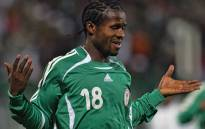 FILE: Nigerian Christian Obodo jubilates after scoring the first goal during the knock-out round football match between Nigeria and Zimbabwe in the Group D of the African Nations Cup (CAN) in Port Said, north of Cairo 27 January 2006. Picture: AFP.