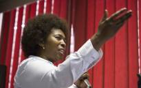 Makhosi Khoza launches her new party African Democratic Change in Braamfontein, Johannesburg. Picture: Thomas Holder/EWN
