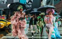 The show saw David Tlale use two iconic New York backdrops, Times Square and the Highline, as the setting to reveal his new Azania spring/summer collection. Picture: Supplied