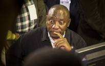 ANC Deputy President Cyril Ramaphosa takes a look at the official results board of the 2016 local government elections in the IEC national results center in Pretoria on 5 August 2016. Picture: Reinart Toerien/EWN