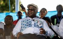 UDPS opposition party leader Felix Tshisekedi looks at supporters during a rally in Kinshasa on 24 April 2018, the first opposition rally authorised since September 2016. Picture: AFP.