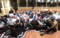 Students stage a sit-in at the University of Witwatersrand on 5 February 2019. Picture: Thando Kubheka/EWN
