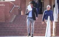 Adam Catzavelos leaves the Randburg Magistrates Court after his first appearance. Catzavelos is being charged with crimen injuria. Picture: Abigail Javier/EWN.