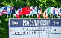 The PGA Championship leaderboard at the Bellerive Country Club in St Louis, Missouri. Picture: AFP