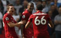 Liverpool players celebrate after beating Tottenham Hotspur. Picture: @GWijnaldum/Twitter.